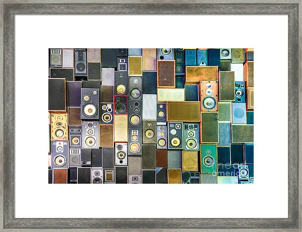 Music Sound Speakers Hanging On The Framed Print