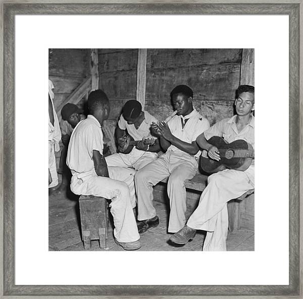 Musicians In Jamaica Framed Print