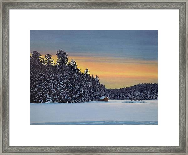 Muskoka Winter Framed Print