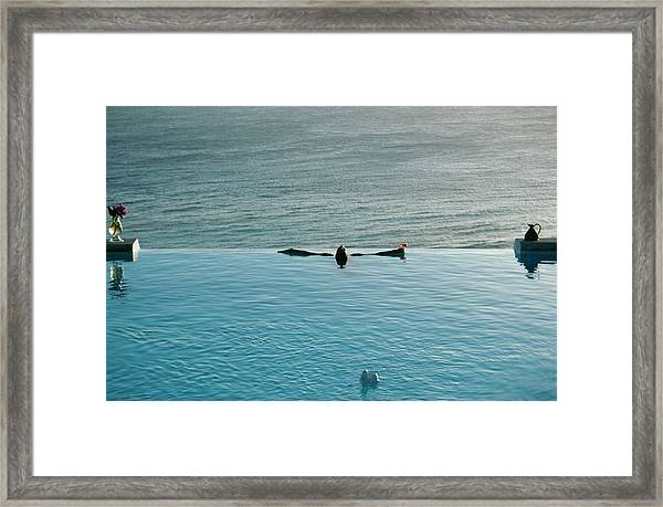 Mustique Pool Framed Print