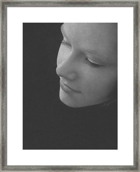 Muted Shadow No. 9 Framed Print