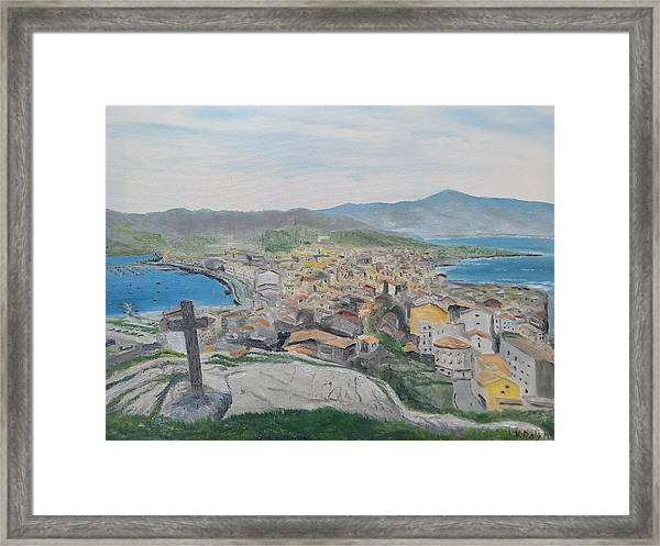 Framed Print featuring the painting Muxia by Kevin Daly