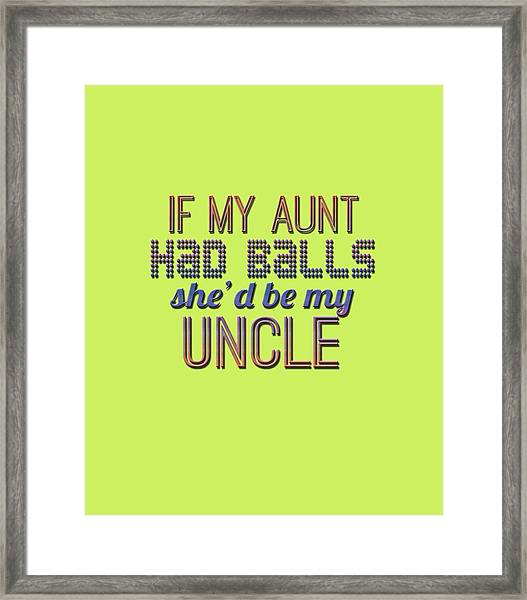 My Aunt Framed Print