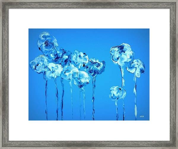 My Garden - Blue Framed Print