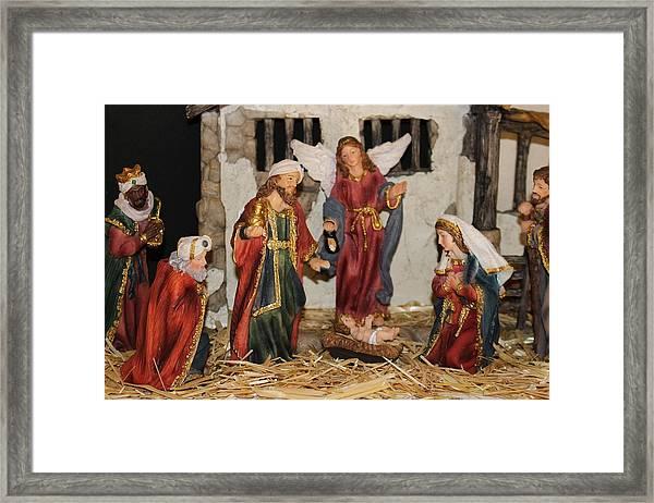 My German Traditions - Christmas Nativity Scene Framed Print