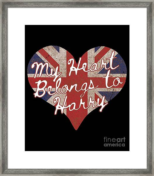 My Heart Belongs To Prince Harry Framed Print