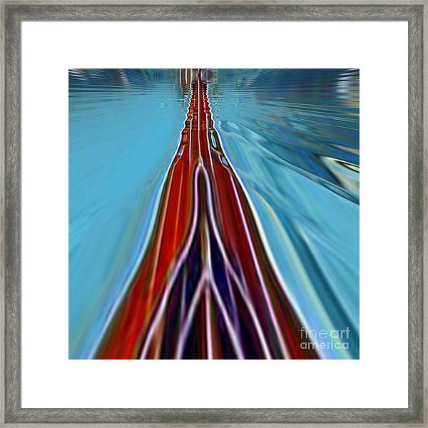 Framed Print featuring the painting My Way by A zakaria Mami
