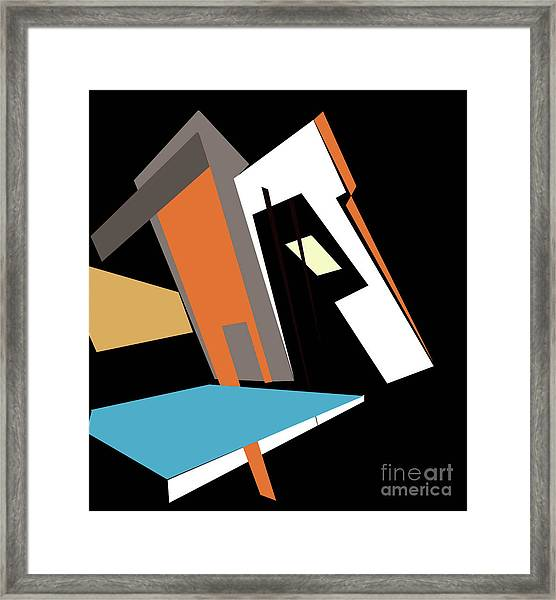 My World In Abstraction Framed Print