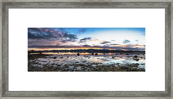 Myre Swapm Walkway On Vesteralen Norway Framed Print
