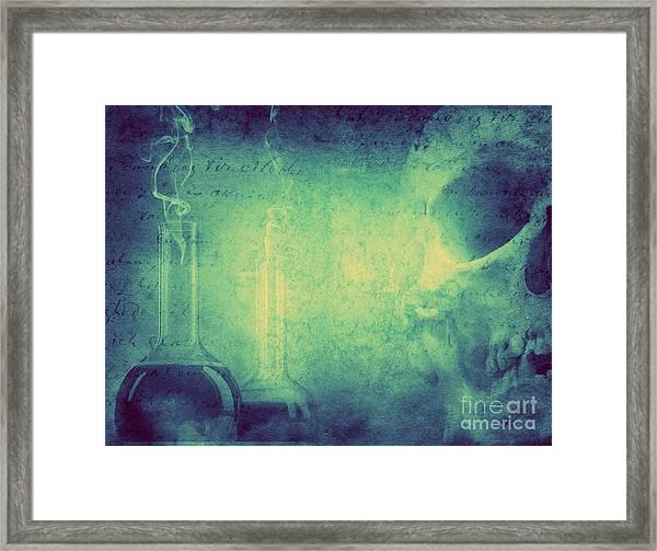 Mystery And Alchemy Background. Retro Framed Print