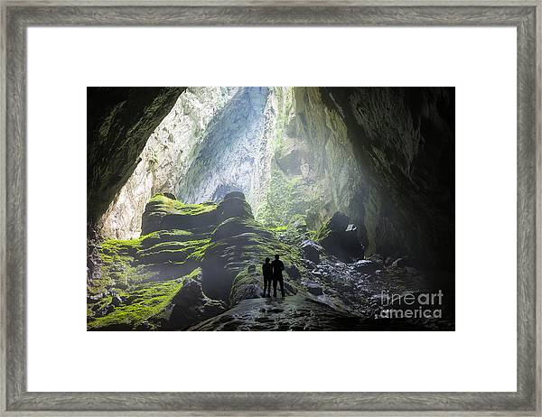 Mystery Misty Cave Entrance In Son Framed Print