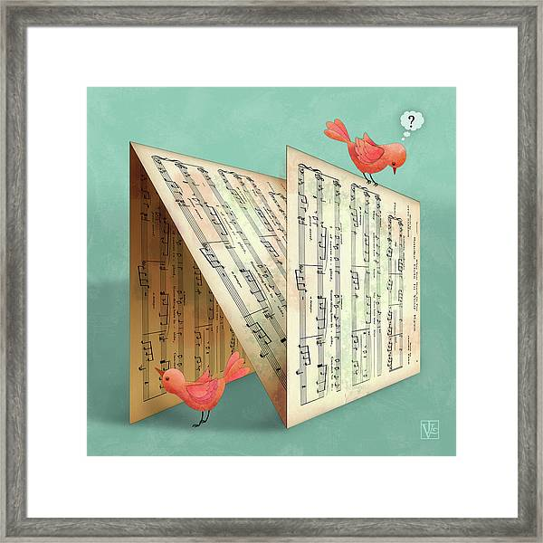 N Is For Notes Framed Print