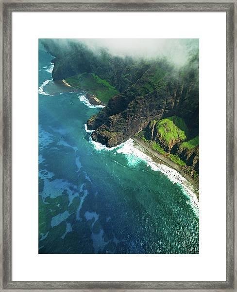 Na Pali Coast Kauai Island Hawaiian Framed Print by Mlenny