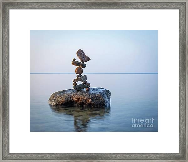Zen Stack #9 Framed Print