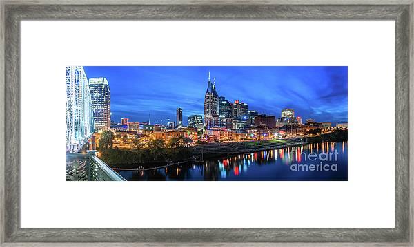 Nashville Night Framed Print