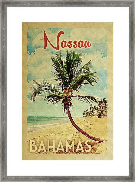 Nassau Bahamas Palm Tree Framed Print