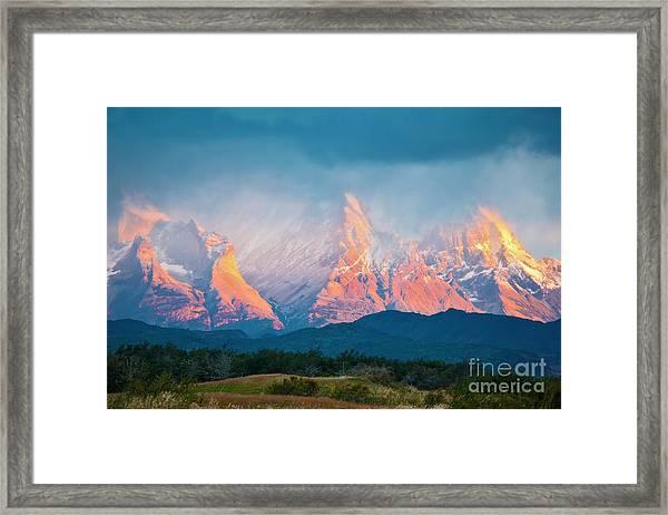 National Park Torres Del Paine In Framed Print by Kavram