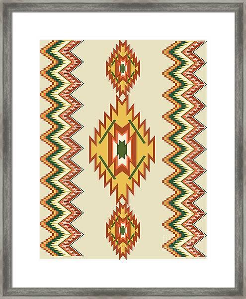 Native American Rug Framed Print