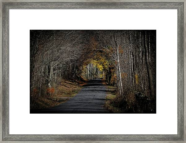 Natural Tunnel - Roxbury, New York Framed Print