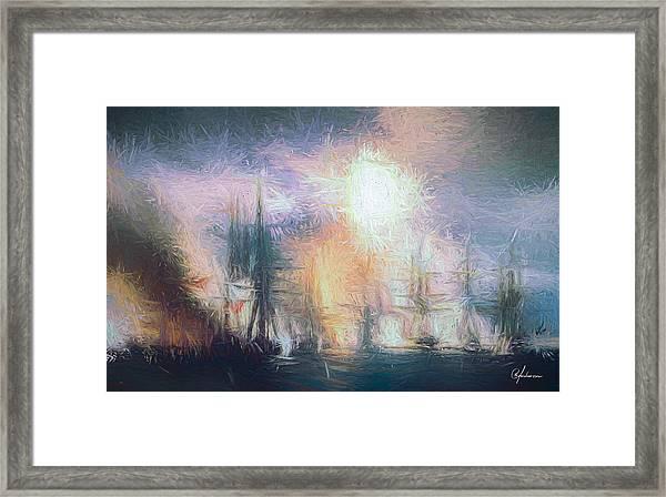 Naval Battle II Framed Print