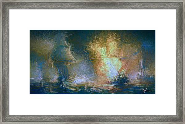 Naval Battle IIi Framed Print