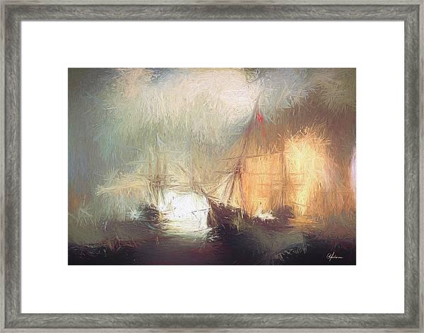 Naval Battle Framed Print
