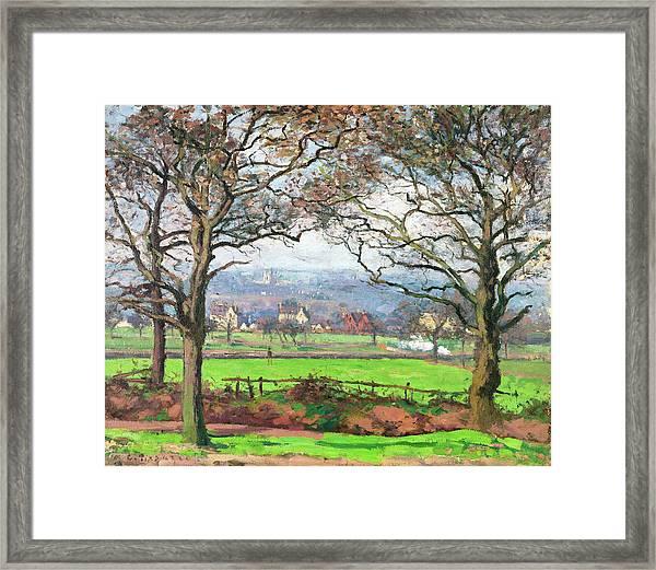Near Sydenham Hill - Digital Remastered Edition Framed Print