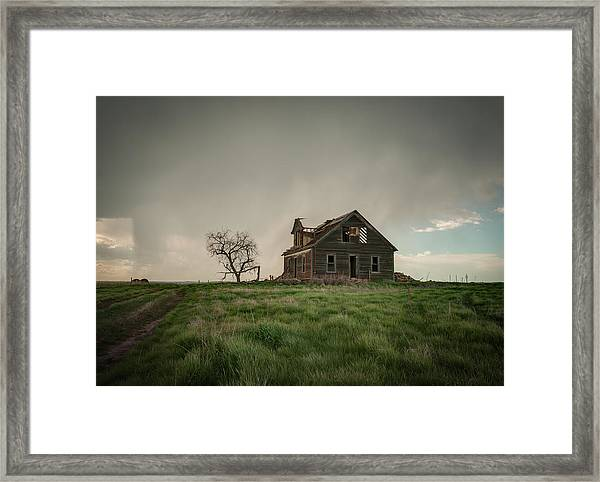 Nebraska Farm House Framed Print