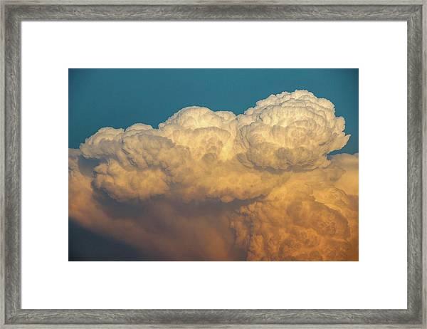 Nebraska Sunset Thunderheads 053 Framed Print