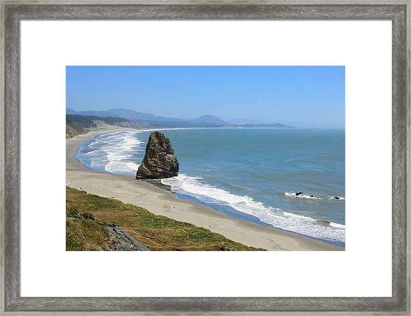 Framed Print featuring the photograph Needle Rock 1, Cape Blanco, Oregon by Dawn Richards