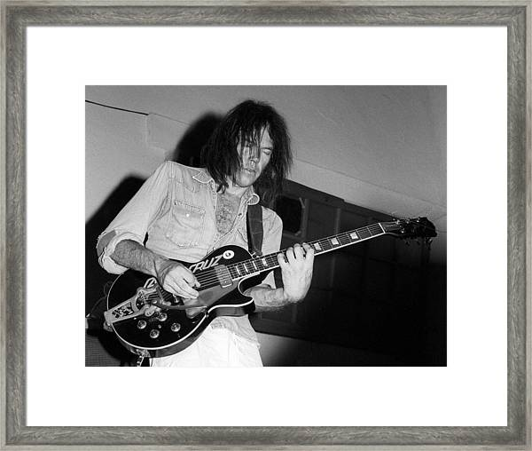 Neil Young Live Framed Print