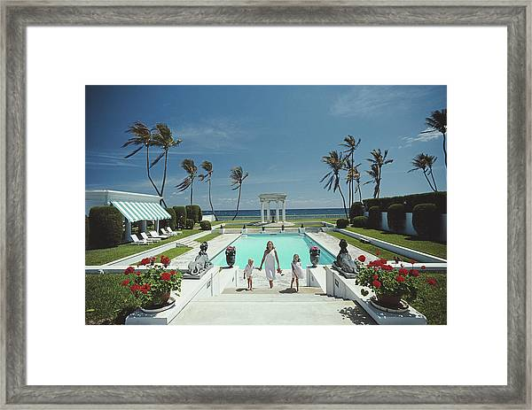 Neo-classical Pool Framed Print