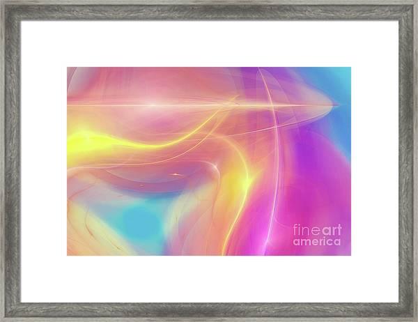 Neon Light  Cosmic Rays Framed Print