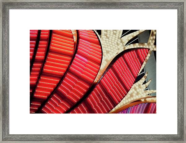 Neon Lights In Las Vegas, Nevada Framed Print by Raisbeckfoto