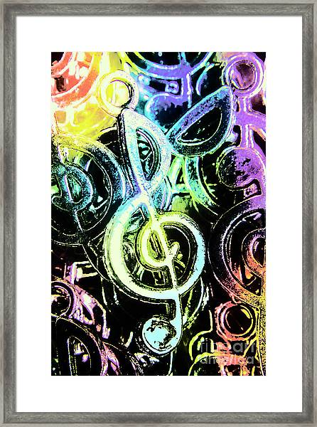 Neon Notes Framed Print