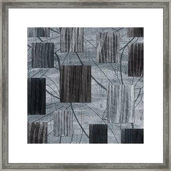 Neutral Toned Leaf Square Print Framed Print