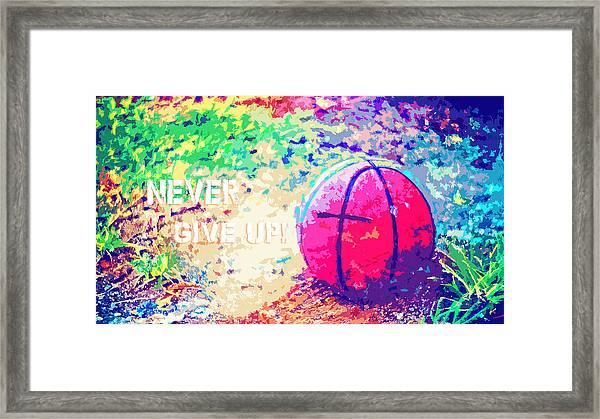 Never Give Up Hebrews Chapter 11 Framed Print