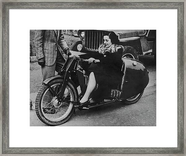 New Design Motobike Framed Print