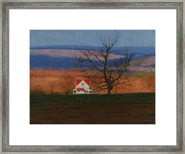 New England View  Framed Print