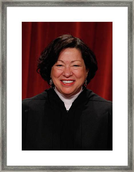 New U.s. Supreme Court Poses For Class Framed Print