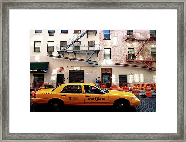 New York, Cab Framed Print