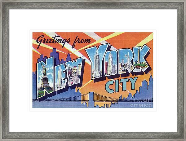New York City Greetings - Version 2 Framed Print
