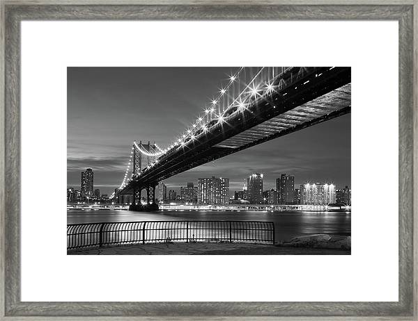 New York City - Manhattan Bridge Framed Print