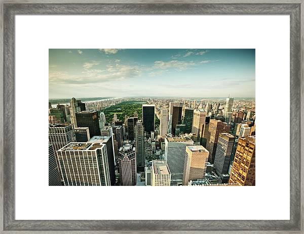 New York City Skyline Central Park Framed Print