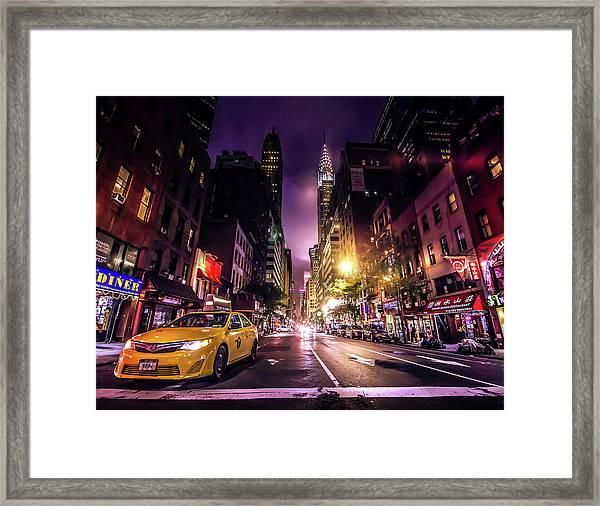 New York City Street Framed Print