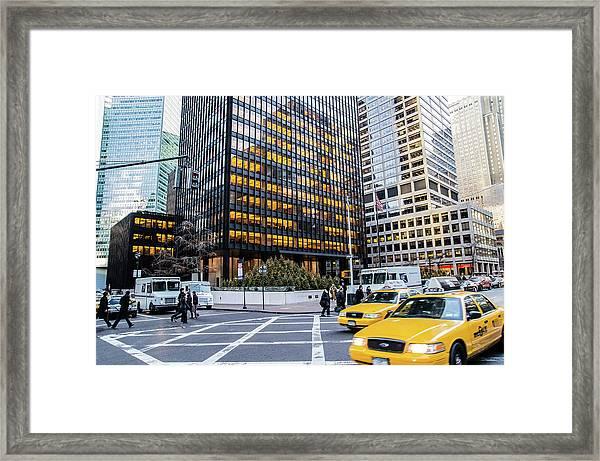 New York City Street Scene Framed Print