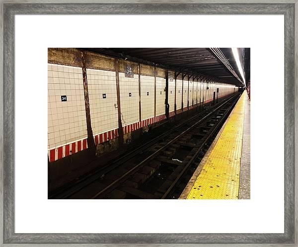 New York City Subway Line Framed Print