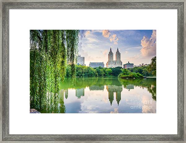 New York City, Usa At The Central Park Framed Print by Sean Pavone