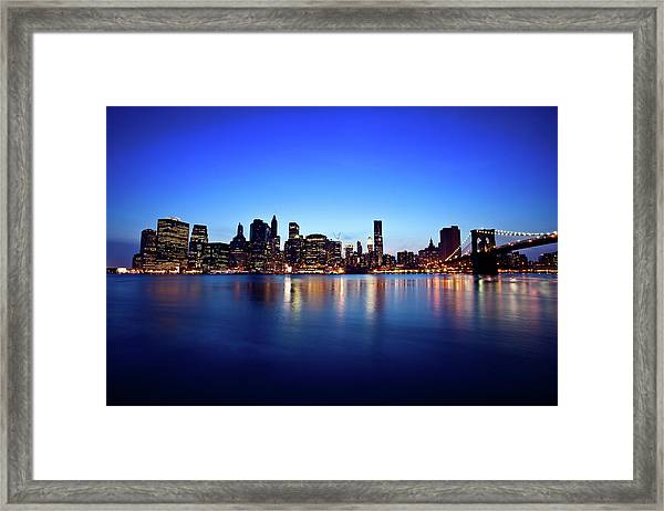 New York City, Usa Skyline Framed Print