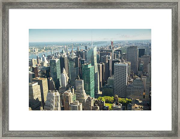 New York City View Xxxl Framed Print